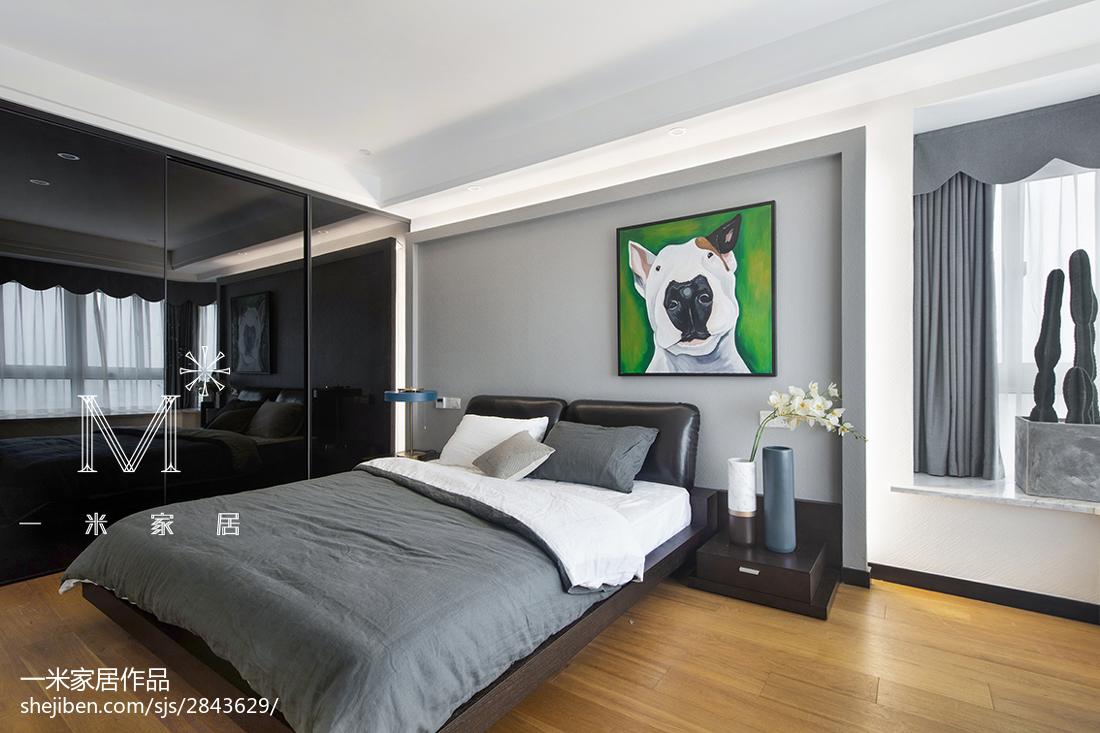 精选四居卧室现代装修实景图片
