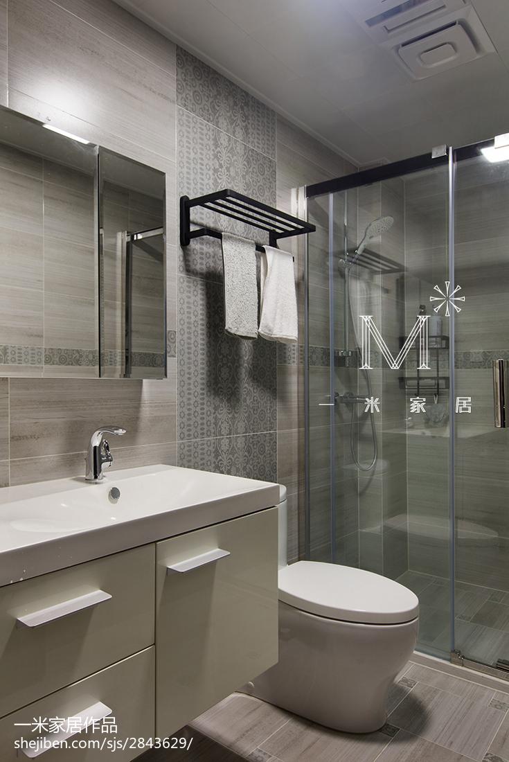 精选面积128平现代四居卫生间装饰图片欣赏