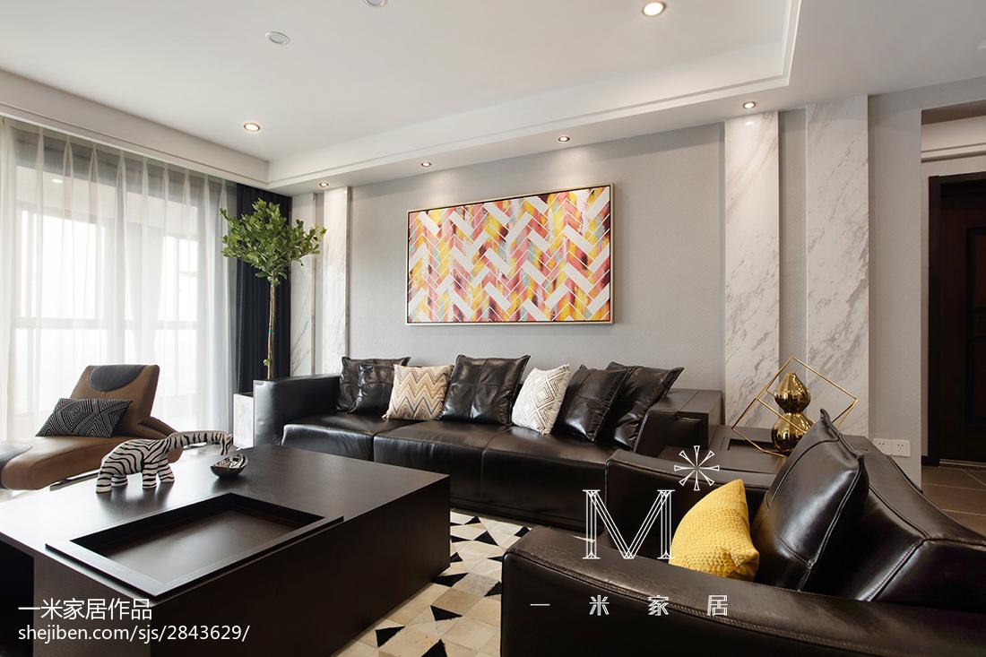 2018精选面积115平现代四居客厅欣赏图