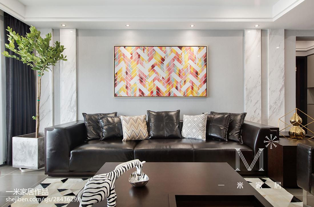 热门面积120平现代四居客厅设计效果图