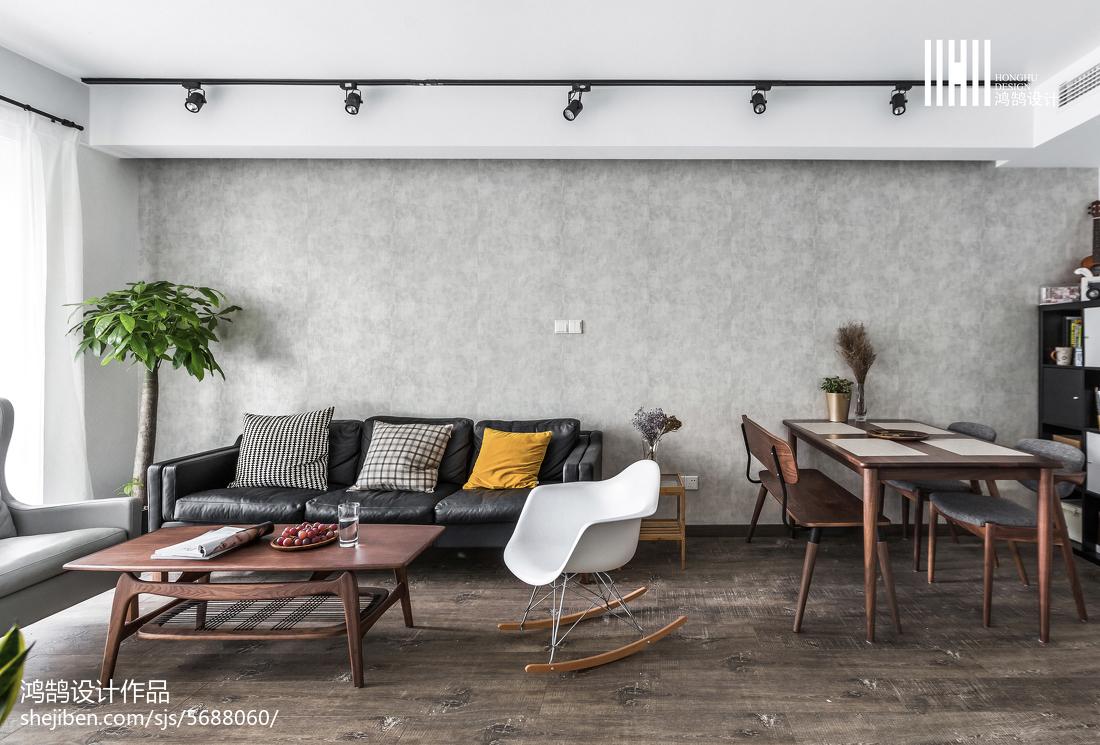 精美面积90平北欧二居客厅装修设计效果图