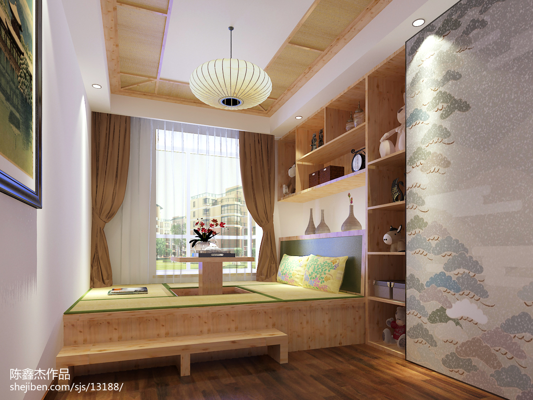 传统日式装修风格卧室设计