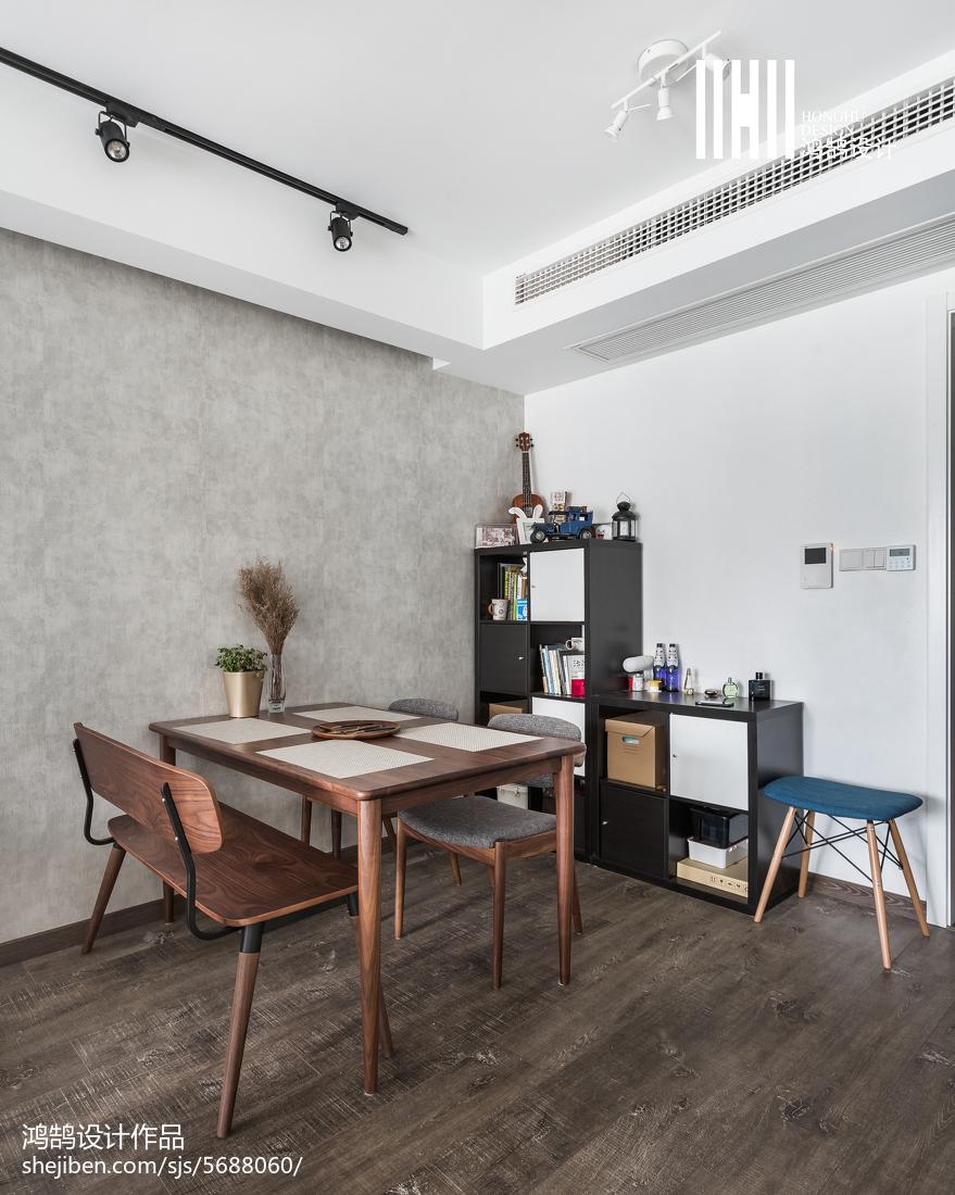 2018精选面积74平北欧二居餐厅效果图