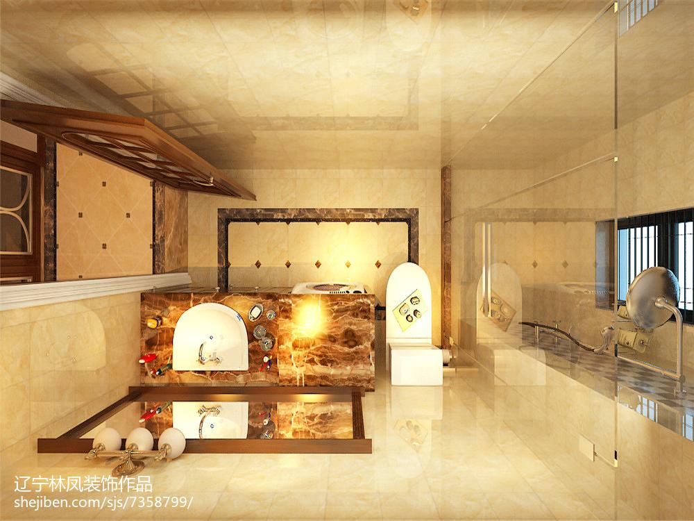 美式新古典风格卫生间装修效果图