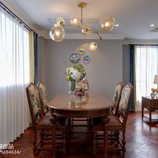 热门面积106平美式三居餐厅设计效果图
