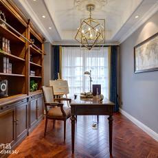 简洁104平美式三居书房装修图