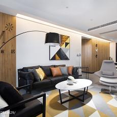 2018102平大小客厅三居现代装修设计效果图片大全