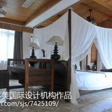 东南亚别墅卧室装修设计效果图