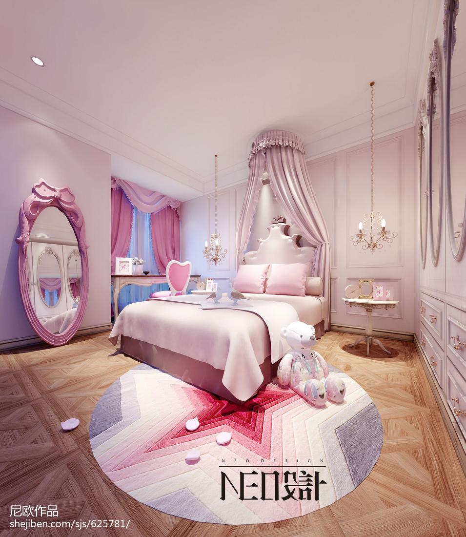 典雅浪漫的新古典风格客厅装修效果图