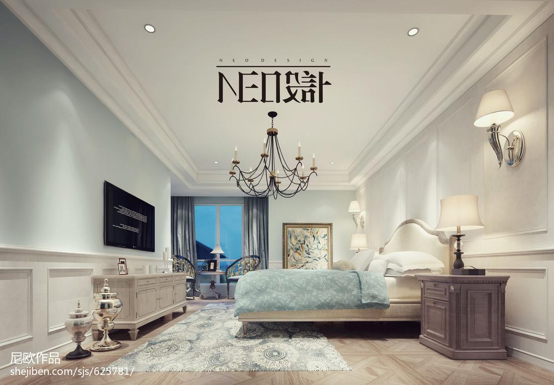 典雅浪漫的新古典风格次卧装修效果图