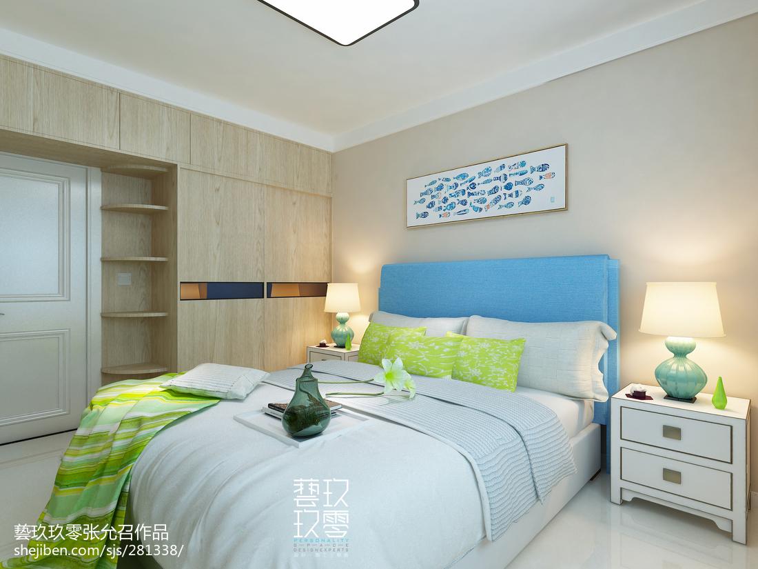 2018精选面积96平北欧三居卧室装修图片大全