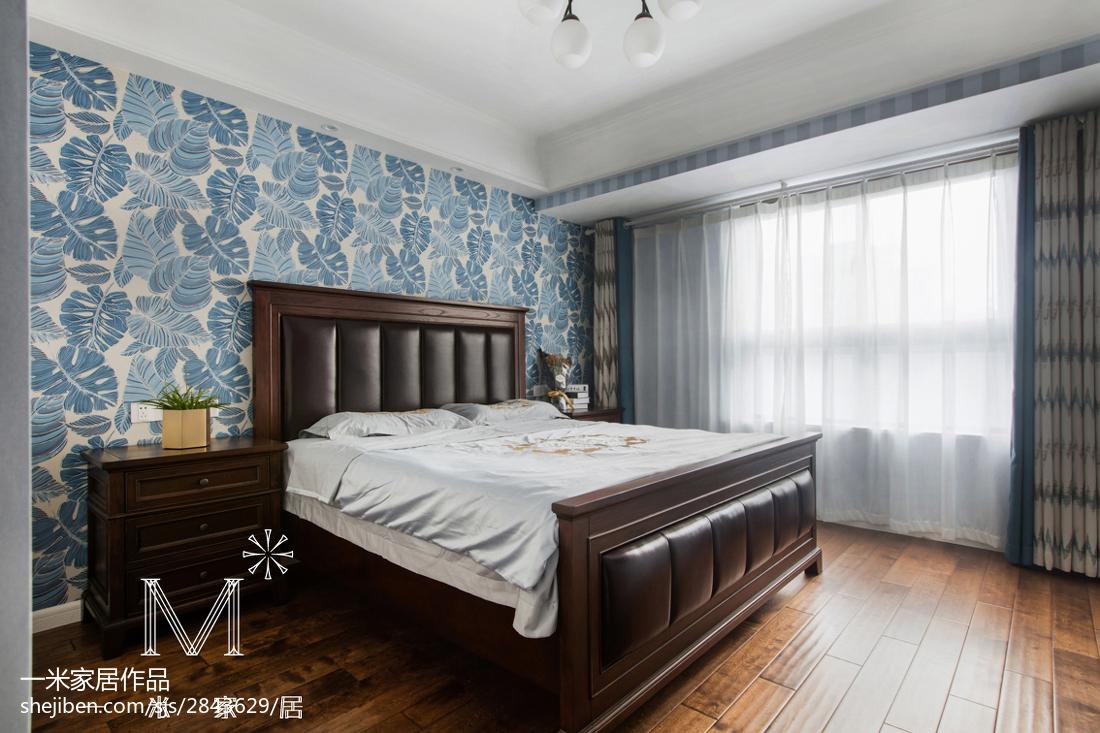 精美99平米三居卧室美式装修设计效果图片