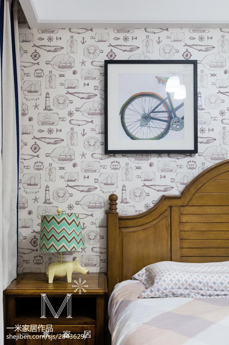2018精选101平米三居卧室美式装修设计效果图片欣赏