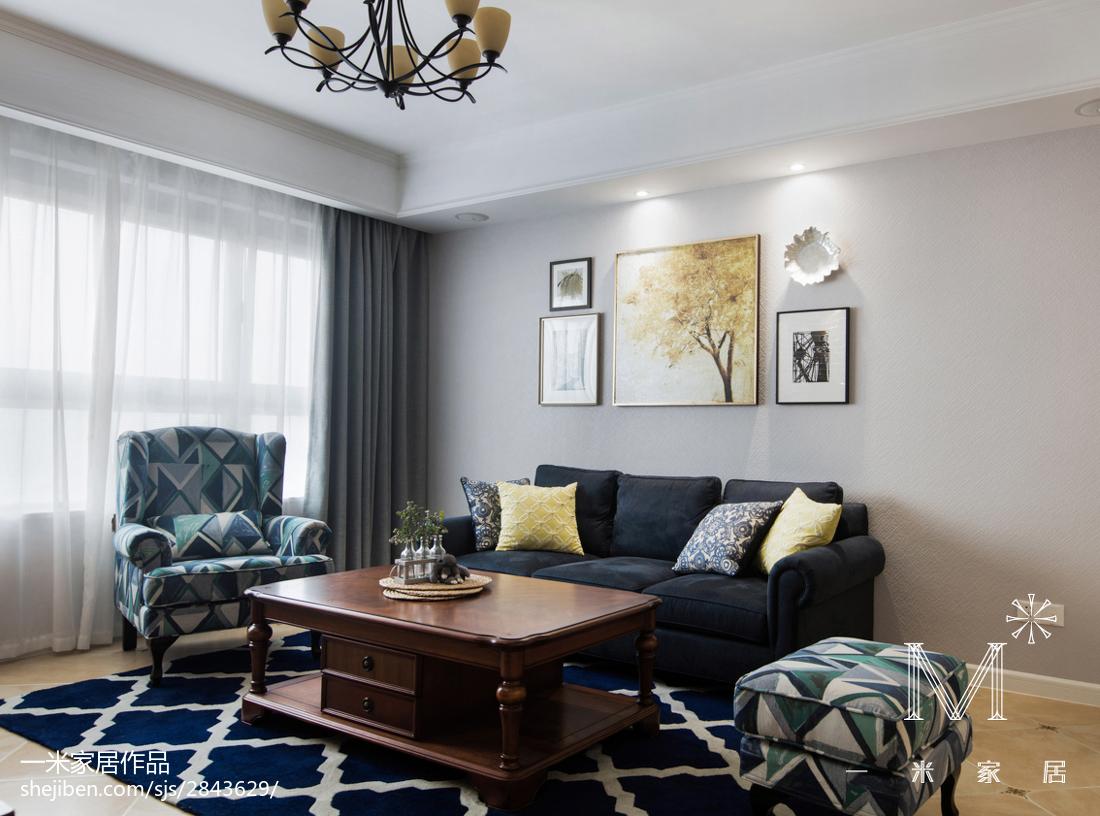 精美96平方三居客厅美式装修效果图片大全