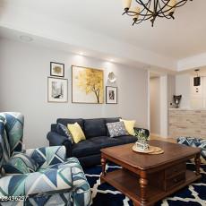 2018100平米三居客厅美式装修效果图