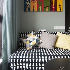 面积99平现代三居卧室装修实景图片大全