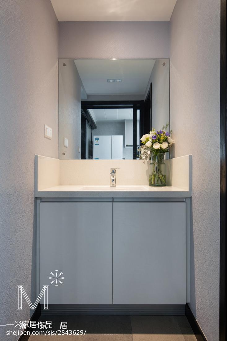 2018面积106平现代三居卫生间装修设计效果图片欣赏