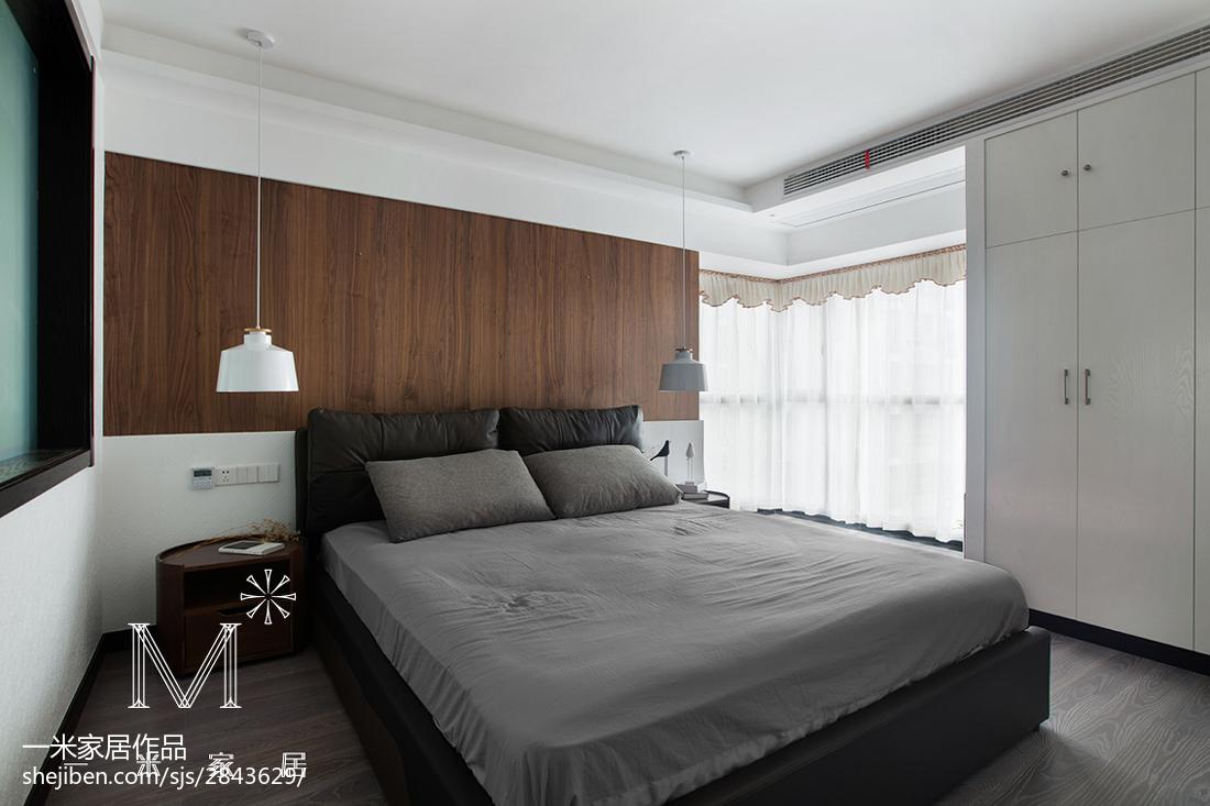 2018精选91平米三居卧室现代效果图片