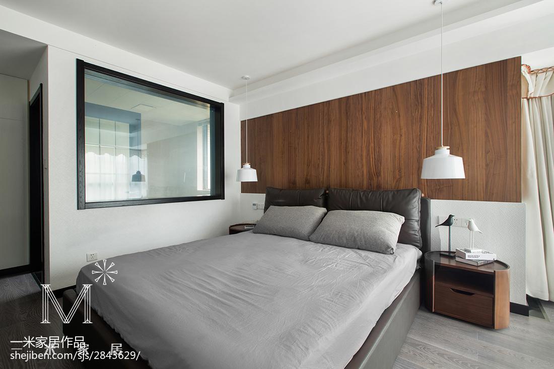 精选面积90平现代三居卧室装修实景图