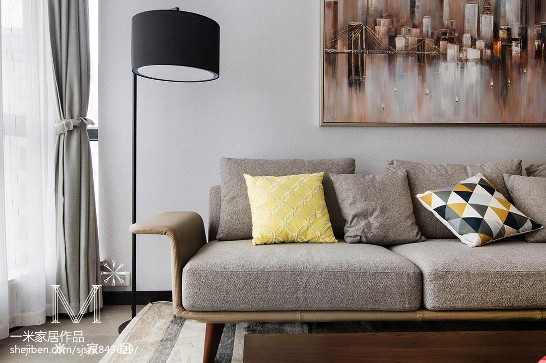 2018109平大小客厅三居现代装修效果图片大全