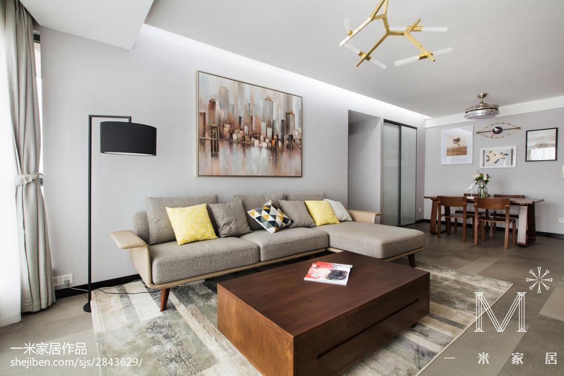 精美93平大小客厅三居现代装修实景图片大全