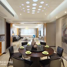 精选91平方三居餐厅现代装修实景图片大全