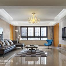 热门面积108平现代三居客厅实景图片大全