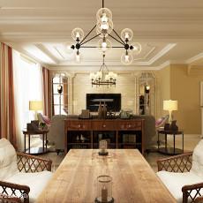 热门135平米美式复式休闲区装修设计效果图片欣赏