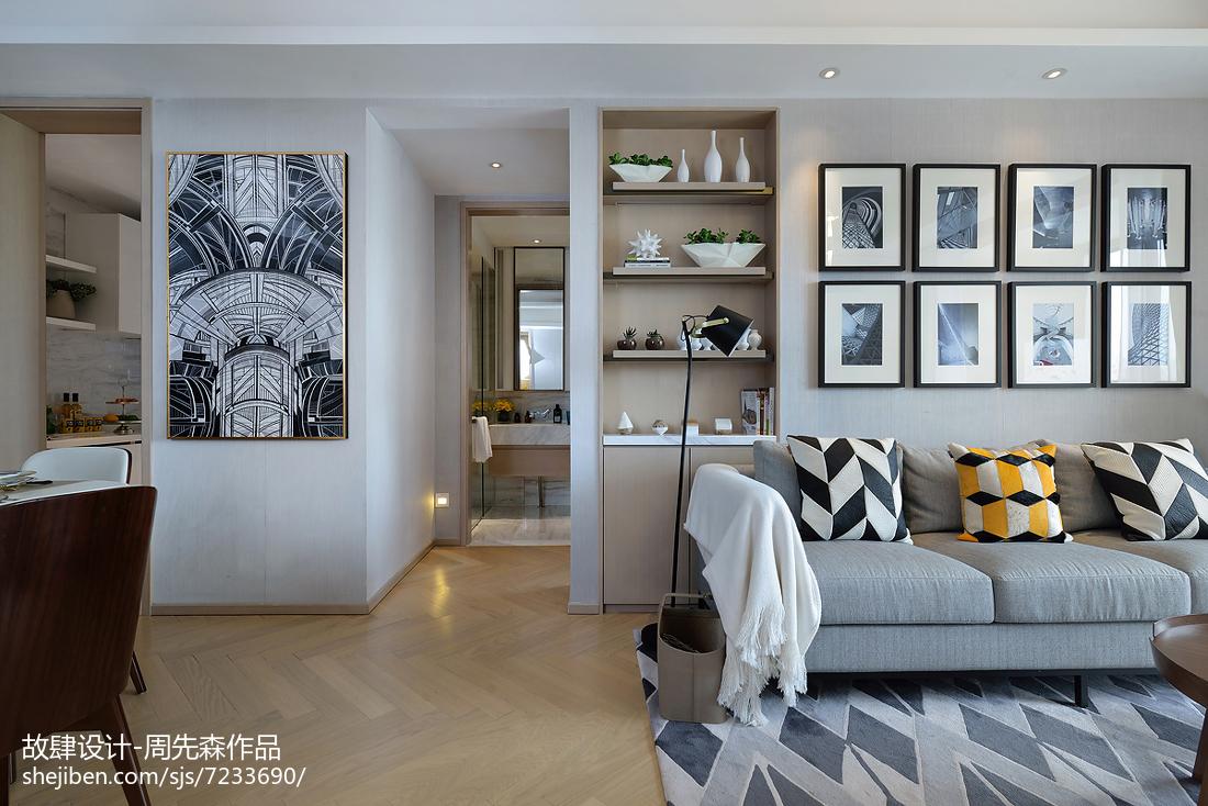 温馨267平简欧样板间客厅装修装饰图