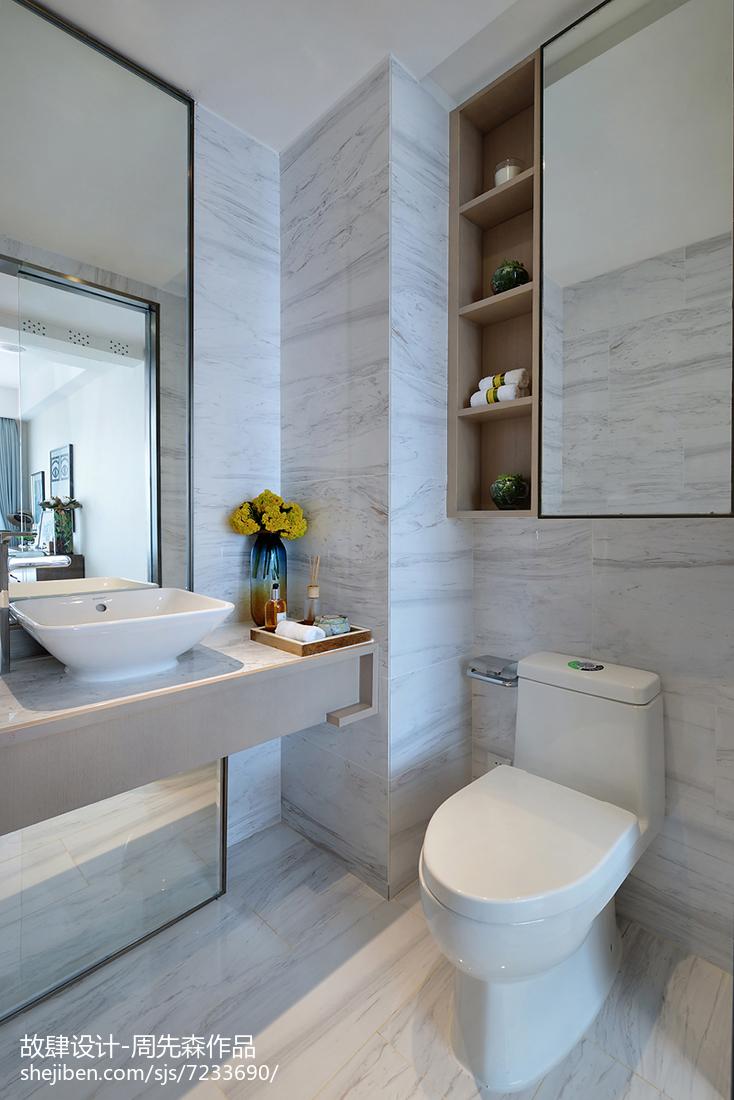 质朴300平简欧样板间卫生间设计图
