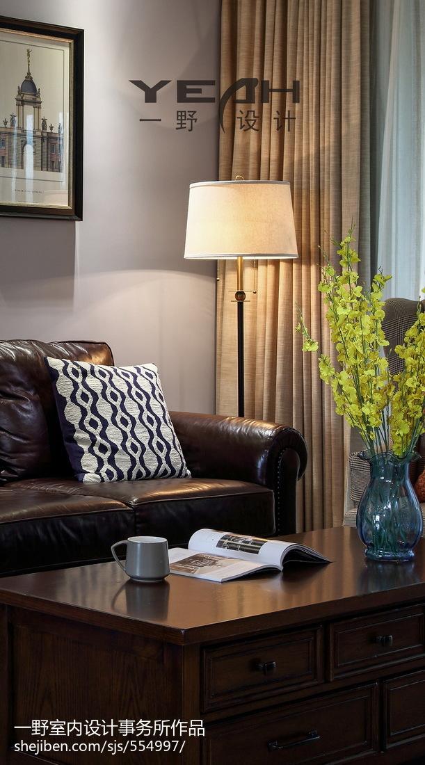 2018大小98平美式三居客厅效果图片欣赏