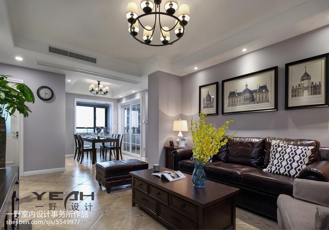 质朴126平美式三居客厅图片欣赏