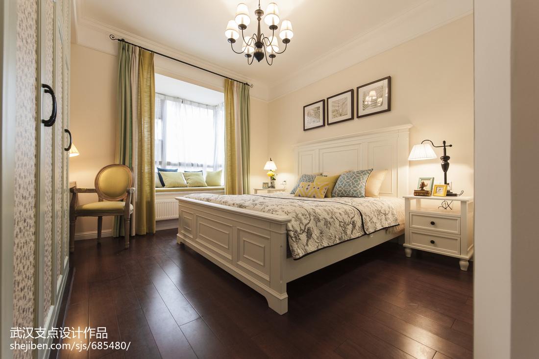 清新美式卧室效果图