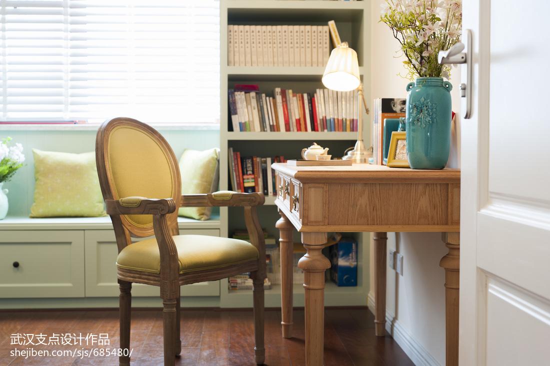 精美面积93平美式三居书房装修图片