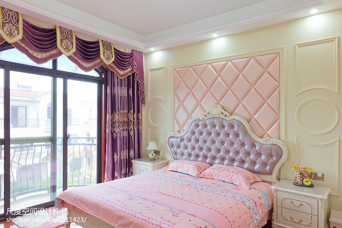温馨欧式粉紫色卧室布置