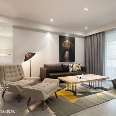 2018精选93平方三居客厅现代装修图片大全