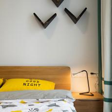 精选91平米三居卧室现代装饰图