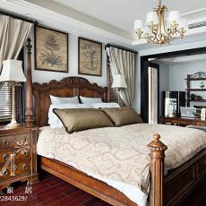 热门面积124平别墅卧室美式实景图
