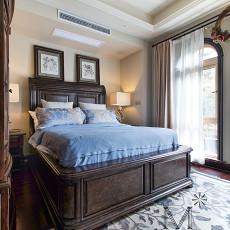 热门111平米美式别墅卧室实景图片欣赏