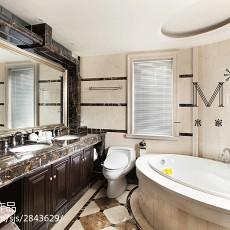 面积127平别墅卫生间美式效果图片