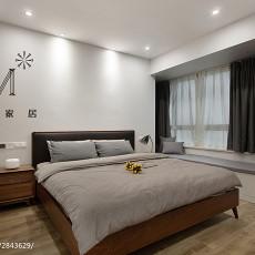 精选108平米三居卧室现代装修实景图片大全