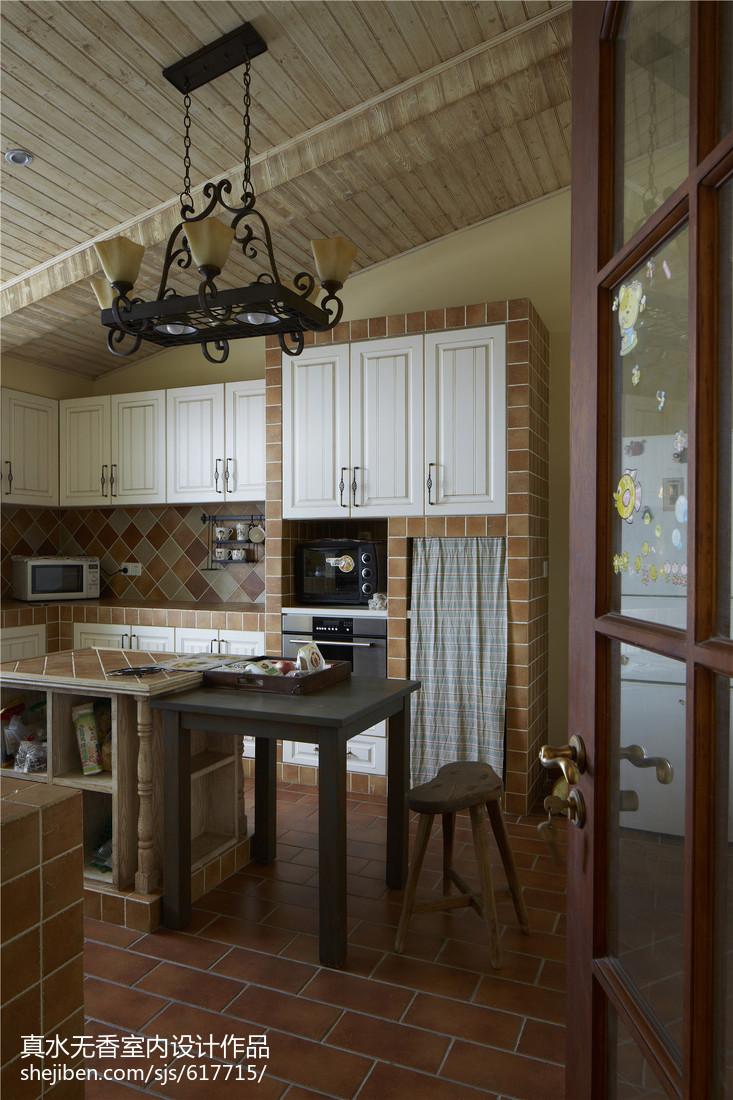 2018面积100平混搭三居厨房装修设计效果图片