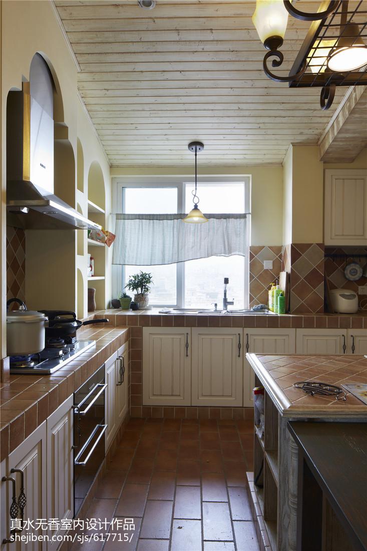 大小93平混搭三居厨房装修图片
