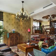 精选面积121平复式客厅东南亚装修图