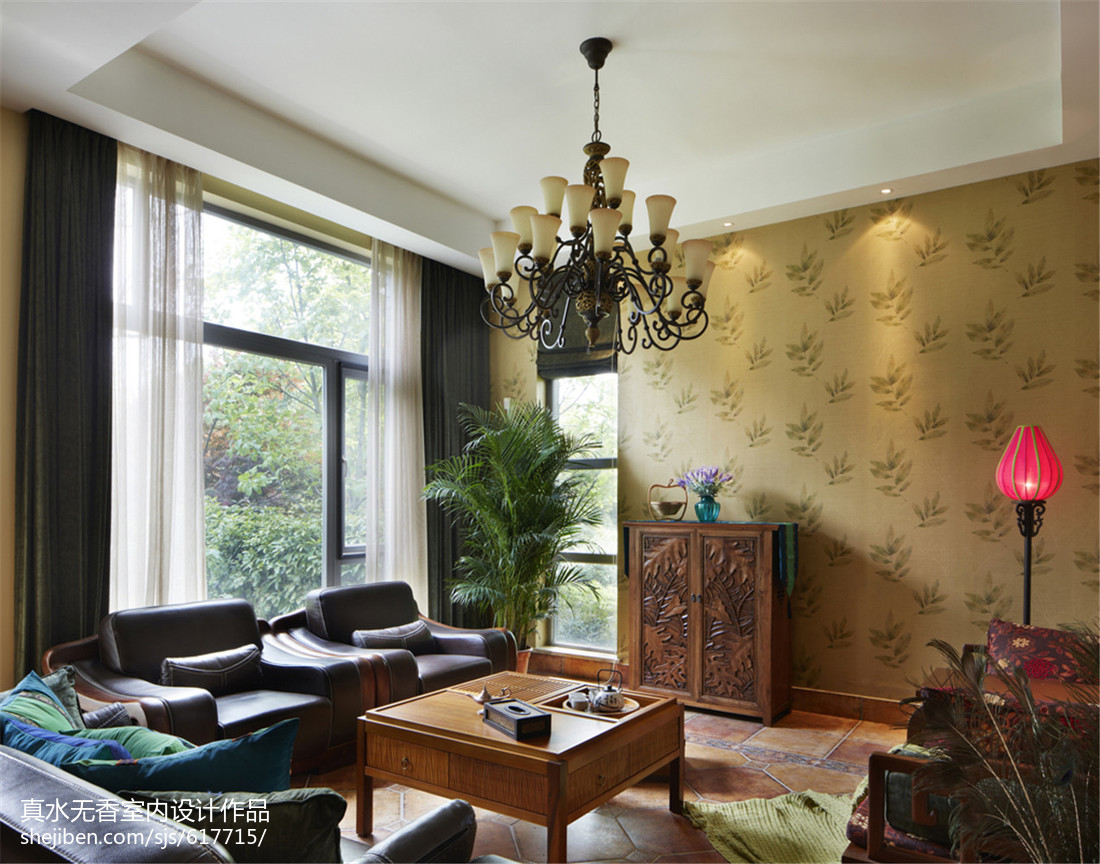 2018复式客厅东南亚效果图片