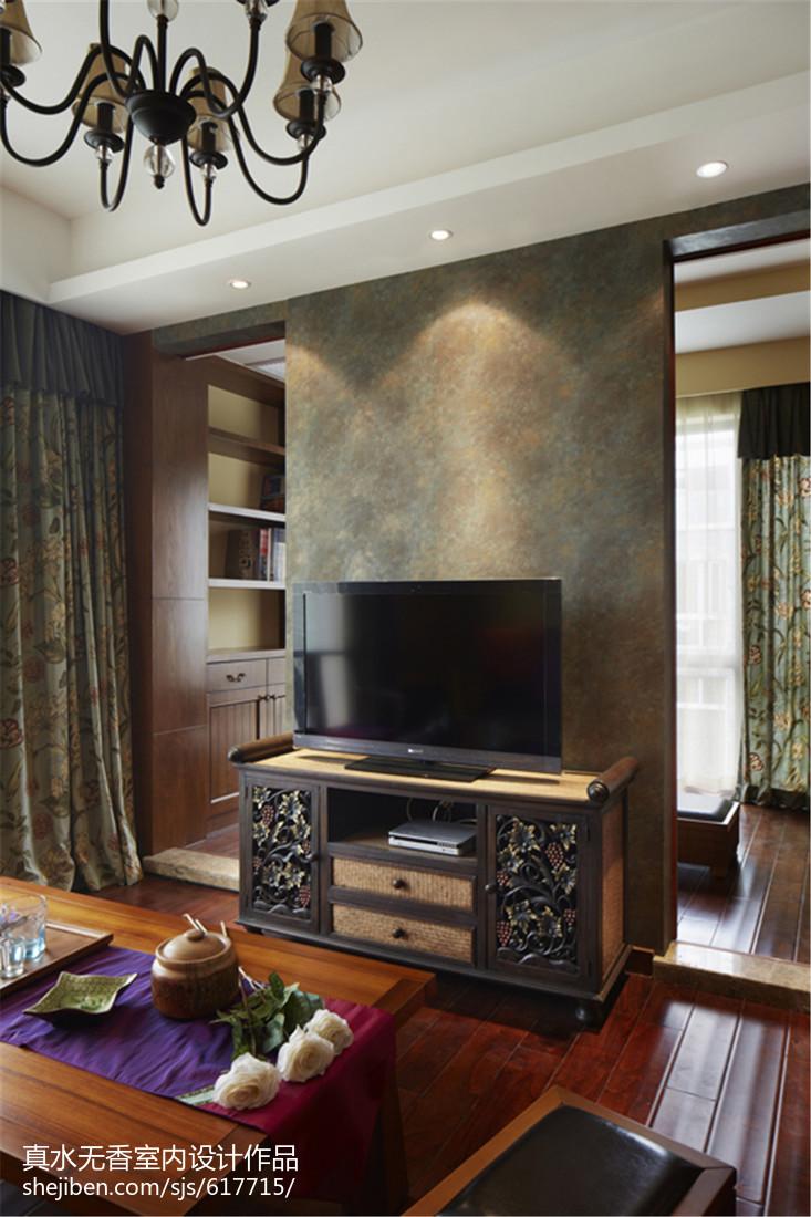 东南亚风格复古背景墙设计
