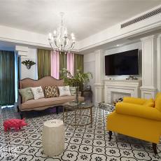 精美面积103平美式三居客厅装饰图