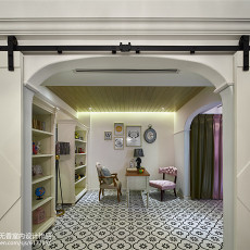 精选99平米三居书房美式设计效果图