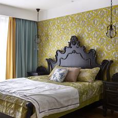 热门面积99平美式三居卧室装修欣赏图片