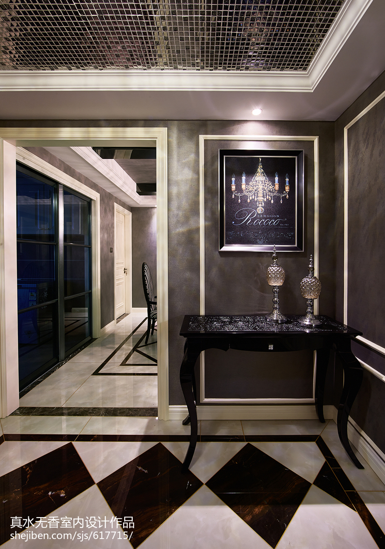 新古典风格三居室玄关设计